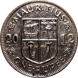 Mauritius 1 Rupee 2012-2016 magnetic KM#55a