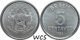 Brazil 5 Centavos 1986-1988 KM#601