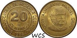Peru 20 Centimos 1985-1987 KM#294