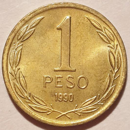 Chile 1 Peso 1981-1992 KM#216