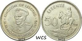 Lesotho 50 Lisente 1979 KM#21 XF