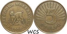 Macedonia 5 Denari 1993-2014 KM#4