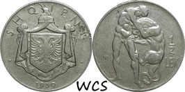 Albania ½ Lek 1930 V KM#13 VF-