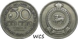 Ceylon 50 Cents 1963-1971 KM#132