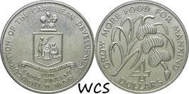 Saint Vincent 4Dollars F.A.O. 1970 KM#13 UNC