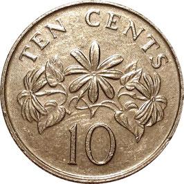 Singapore 10 Cents 1985-1991 KM#51