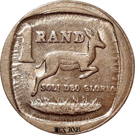 South Africa 1 Rand 1991 KM#138 VF
