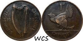 Ireland 1 Penny 1935 KM#3 VF-