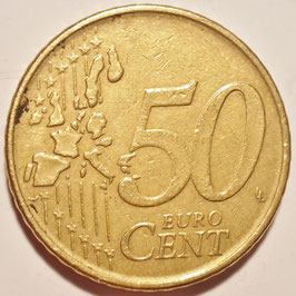 Belgium 50 Cents 1999-2006 KM#229