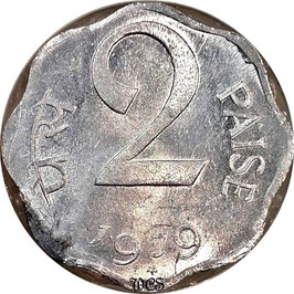India 2 Paise 1979 Hyderabad KM#13.6 XF