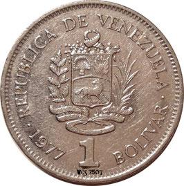 Venezuela 1 Bolivar 1977-1986  Y#52