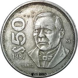 Mexico 50 Pesos 1984-1988 KM#495
