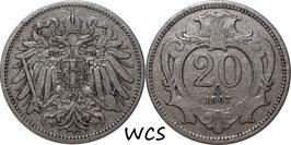 Austria 20 Heller 1892-1914 KM#2803