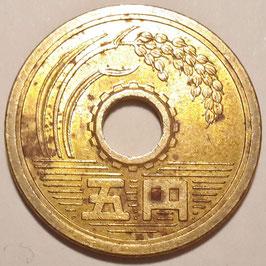 Japan 5 Yen 1959 (34)-1989 (64) Y#72a