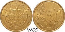 Slovakia 50 Cents 2009 KM#100