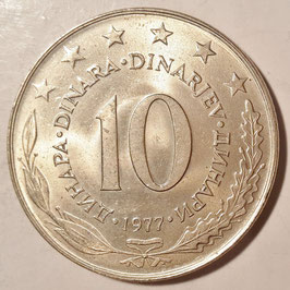 Yugoslavia 10 Dinara 1976-1981 KM#62