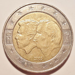 Belgium 2 Euro 2005 - Belgium-Luxembourg Economic Union KM#240 VF