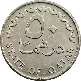 Qatar 50 Dirhams 1973-1998 KM#5
