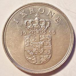 Denmark 1 Krone 1960-1971 C♥S KM#851.1