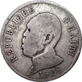 Haiti 50 Centimes 1908 KM#56 F