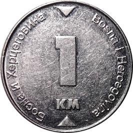 Bosnia & Herzegovina 1 Konvertible Marka 2002 KM#118 VF