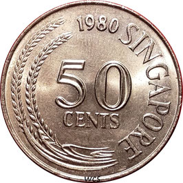 Singapore 50 Cents 1967-1985 KM#5