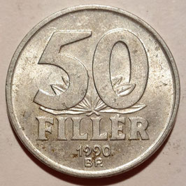 Hungary 50 Filler 1990-1999 KM#677