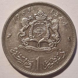 Morocco 1 Dirham 1965-1969 (1384-1389) Y#56