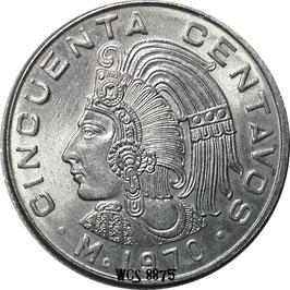 Mexico 50 Centavos 1970-1983 KM#452