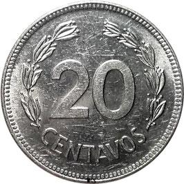 Ecuador 20 Centavos 1975-1981 KM#77.2a