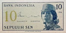Indonesia 10 Sen 1964 P.92a UNC