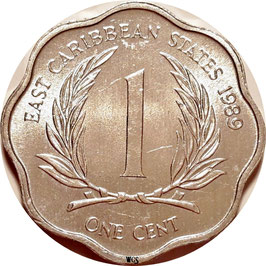 East Caribbean States 1 Cent 1981-2001 KM#10