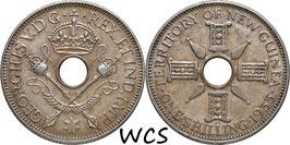 New Guinea 1 Shilling 1935 KM#5 XF-