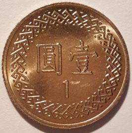 Taiwan 1 Yuan 1981-2017 (70-106) Y#551