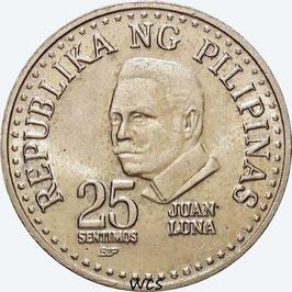 Philippines 25 Sentimos 1979-1982 BSP' KM#227