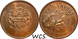 Guyana 1 Dollar 1996-2015 KM#50