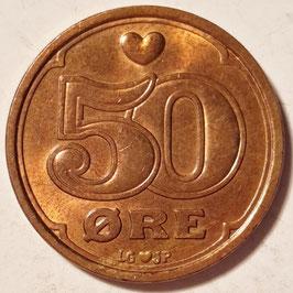 Denmark 50 Öre 1989-2001 KM#866.1-866.2