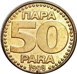 Yugoslavia 50 Para 1996-1999 KM#174