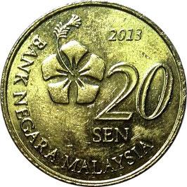 Malaysia 20 Sen 2011-Date KM#203