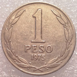 Chile 1 Peso 1975 BERNARDO O'HIGGINS KM#207 VF