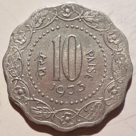 India 10 Paise 1971-1978 KM#27.1