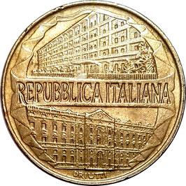 Italy 200 Lire 1996 - 100th Anniversary - Customs Service Academy KM#184 XF