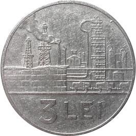Romania 3 Lei 1963 KM#91  VF