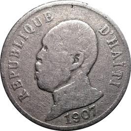 Haiti 50 Centimes 1907 KM#56 F