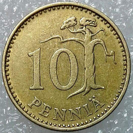 Finland 10 Penniä 1963-1982 KM#46