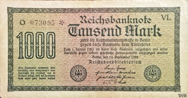 Germany 1000 Mark 15.09.1922 Ro 75k Printer: VL