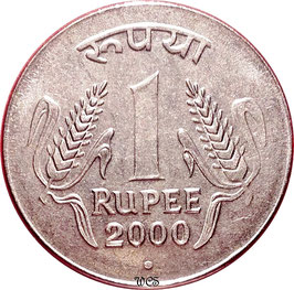 India 1 Rupee 1995-2004 Smoth Edge KM#92.2