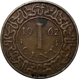 Suriname 1 Cent 1962 KM#11 VF