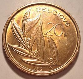 Belgium 20 Francs 1980-1993 BELGIQUE KM#159