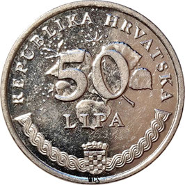 Croatia 50 Lipa 1993-Date - Croatian Text KM#8